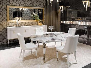 Итальянский квадратный стол Versailles фабрики VISIONNAIRE