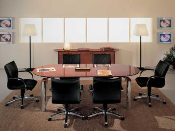 Итальянский стол для переговоров NUVOLA фабрики R.A. MOBILI S.P.A.