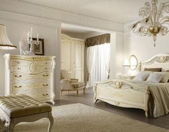 Итальянская спальня CORINZIA ANTIQUARIATO BIANCO фабрики GRILLI