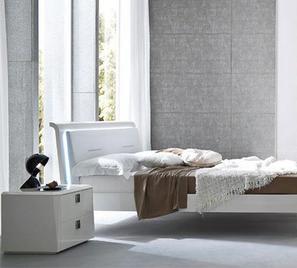 Итальянская двуспальная кровать Prisma laccato bianco фабрика Serenissima