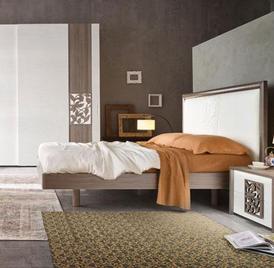 Итальянская односпальная кровать Fusion фабрики Serenissima