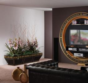 Итальянская мебель для ТВ из коллекции GOLD EYES фабрики VISMARA DESIGN