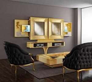 Итальянская мебель для ТВ из коллекции MOSAIK фабрики VISMARA DESIGN