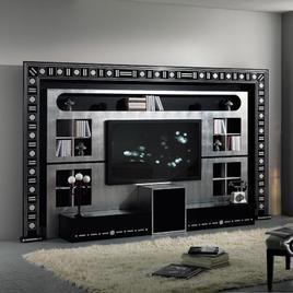 Итальянская мебель для ТВ из коллекции GLAMOUR BLACK & WHITE фабрики VISMARA DESIGN