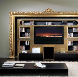 Итальянская мебель для ТВ из коллекции BAROQUE фабрики VISMARA DESIGN